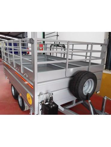 Remolque 2 ejes Basculante con rueda bajo chasis