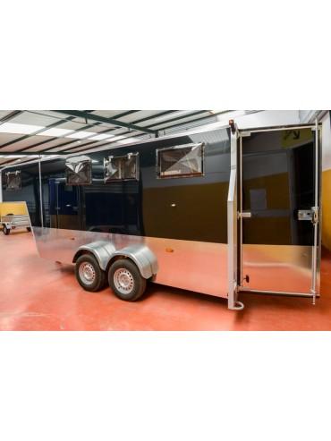 Van de Aluminio 3 caballos con dormitorio 3 personas