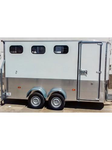 Van de Aluminio 3 caballos en diagonal Luxury
