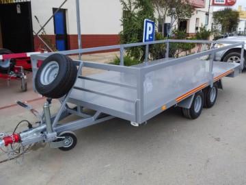 Remolque Plataforma 2 ejes con rueda bajo chasis